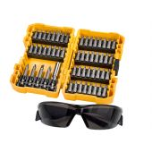 DT71540 High-Performance Screwdriving Bit Set, 53 Piece + Safety Glasses