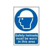 Sign: Safety Helmets Must Be Worn