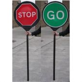 Stop / Go Road Sign